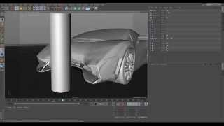Car Crashes using Collision Deformer in CINEMA 4D