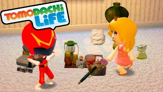 getlinkyoutube.com-Tomodachi Life 3DS Princess Peach VS Samus, Robo-Hero Suit Gameplay Walkthrough PART 35 Nintendo
