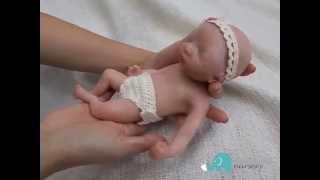 "getlinkyoutube.com-Mini Limited Edition 10"" Silicone Full Body Baby Doll ""Mia"""