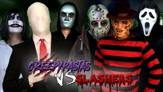 getlinkyoutube.com-Creepypastas vs Slashers. Batalla Final de Rap (Especial Post-Halloween) | Keyblade