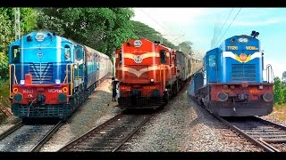 getlinkyoutube.com-Single Line Trains & Crossings : Indian Railways