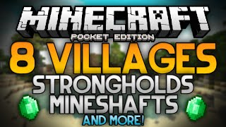 getlinkyoutube.com-THE BEST SEED FOR MINECRAFT POCKET EDITION!!! - 8 Villages, Mineshafts, a Stronghold, and More!