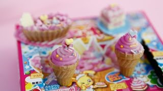 getlinkyoutube.com-포핀쿠킨/가루쿡-타노시이케키야상(popin cookin kracie-soft Ice Cream cone & cake) ポピンクッキン たのしいケーキやさん
