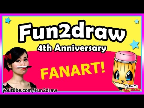 Fun2draw Fanart - 4th Anniversary Special Dedicated to My Subscribers!