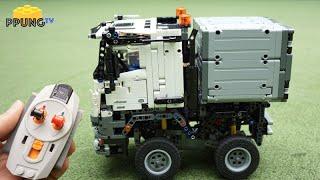getlinkyoutube.com-LEGO Technic 42043 - RC Motorized MINI Mercedes-Benz Arocs by 뿡대디