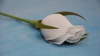getlinkyoutube.com-Бутон розы для букета из конфет  Мастер-класс. Букет из конфет
