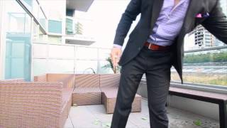 Will Chen ALS #icebucketchallenge in a custom tailored suit