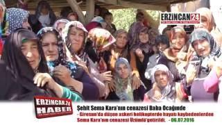 Şehit Kara'nın Cenazesi Memleketi Üzümlü'ye Getirildi