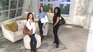getlinkyoutube.com-Dooney & Bourke Leather Hobo with Logo Lock and Accessories with Leah Williams