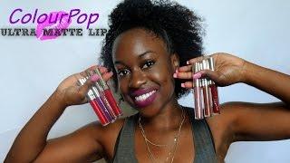 getlinkyoutube.com-ColourPop Ultra Matte Lip on Dark Skin 💋