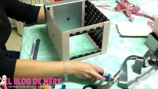getlinkyoutube.com-[VIDEOTUTORIAL] Organizador de maquillaje con las cajitas de belleza.