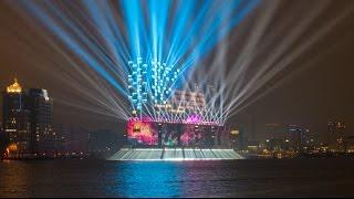 Elbphilharmonie Eröffnung Lichtshow