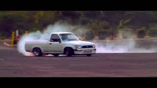 Toyota mini truck with welded diff drifting