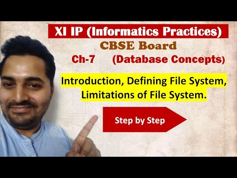 Class 11 IP | # 18 | Ch-7 | Database Concepts| CBSE Board