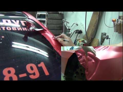 Geely MK - Автовинил. Процесс оклейки. Крыло и сборка машины.