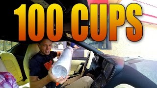getlinkyoutube.com-BUYING 100 BLACK OPS 3 CUPS FROM HARDEES DRIVE THRU!