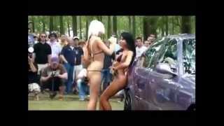 getlinkyoutube.com-Bikini Car Wash-Sexy Girls Dancing Washing Car-Bikini Hand Car Wash