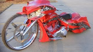 getlinkyoutube.com-worlds first 32 inch wheel Custom Street Glide Bagger Harley Davidson Custom Cycles LTD
