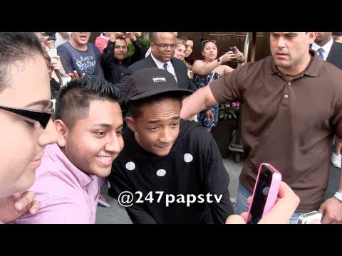 Will Smith and son Jaden Smith leaving there SOHO Hotel in NYC