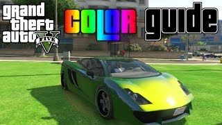 getlinkyoutube.com-GTA V - Ultimate Color Guide #1 | Best Colors for Car Customizations