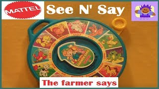 1996 mattel the farmer says see n' say
