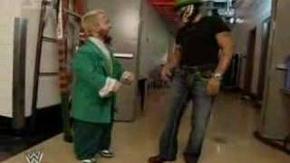 "getlinkyoutube.com-Hornswoggle says ""Good bye"" to Rey Mysterio"