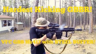 getlinkyoutube.com-HARDEST Kicking GBBR Ever! VFC Hk417! Steel Buffer! Airsoft GBB