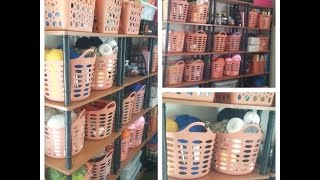 getlinkyoutube.com-Vol 15 - Organizing my yarn stash with Dollar Tree