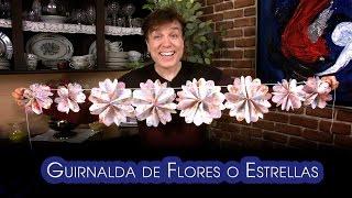 getlinkyoutube.com-Guirnalda de Flores o Estrellas Origami Facilisimos