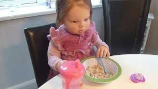 getlinkyoutube.com-Reborn Toddler Haylee's Morning Routine
