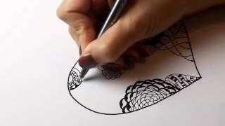 getlinkyoutube.com-heart zentangle