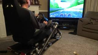 Homemade PVC race seat with working brake lights