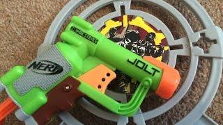 getlinkyoutube.com-Nerf Zombie Strike Target Set (Jolt) Unboxing & Review