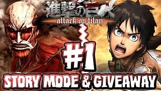 getlinkyoutube.com-Attack on Titan PS4 - Part 1 - Story Mode FIRST HOUR & GIVEAWAY