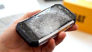 getlinkyoutube.com-CAT B15: Was hält das Panzer-Smartphone aus? REVIEW - felixba