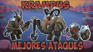 getlinkyoutube.com-Monster Legends Review - Krampus - Mejores Ataques - Lv 1 al 100