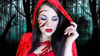 getlinkyoutube.com-Little Red Riding Hood | Halloween Makeup Tutorial | Cherry Wallis