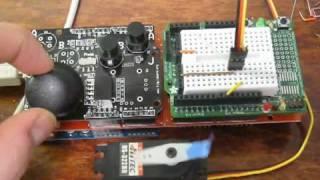 getlinkyoutube.com-Using Arduino xbox type shield to control a Servo Motor!