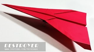 Best Paper Planes - How to make a paper airplane that FLIES FAR | Destroyer
