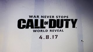 Call of Duty 2017 World Reveal?!