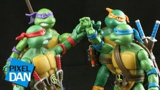 getlinkyoutube.com-Playmates Teenage Mutant Ninja Turtles Classic Collection Figure Review