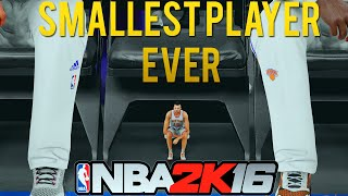 getlinkyoutube.com-1 FOOT PLAYER IN THE NBA | SMALLEST PLAYER EVER!! | NBA 2K16 MOD