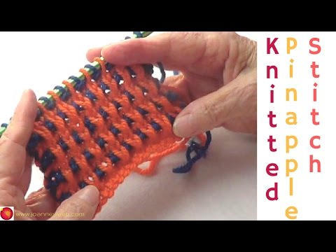 Pinapple Knit Stitch