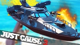 getlinkyoutube.com-NEW BATTLESHIP IN JUST CAUSE 3 :: Just Cause 3 Bavarium Sea Heist!!