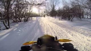 getlinkyoutube.com-Tug Hill Snowmobiling - 2/8/14