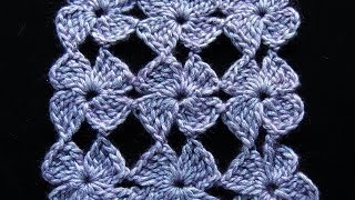 getlinkyoutube.com-Crochet : Flor de 4 Petalos.  Parte 1 de 2