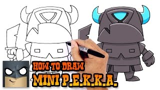 getlinkyoutube.com-How to Draw Mini P.E.K.K.A. (Clash Royale)- How to Draw Cartoons