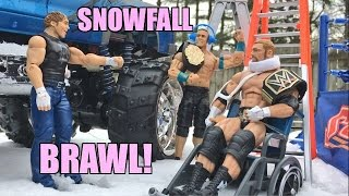 getlinkyoutube.com-GTS WRESTLING: Snowfall Brawl! WWE Mattel Elite Action Figure Animation PPV Event