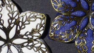 getlinkyoutube.com-Metal Lace Flower Pendants - Polymer Clay Tutorial