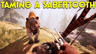 getlinkyoutube.com-TAMING A SABERTOOTH! - Far Cry Primal Gameplay